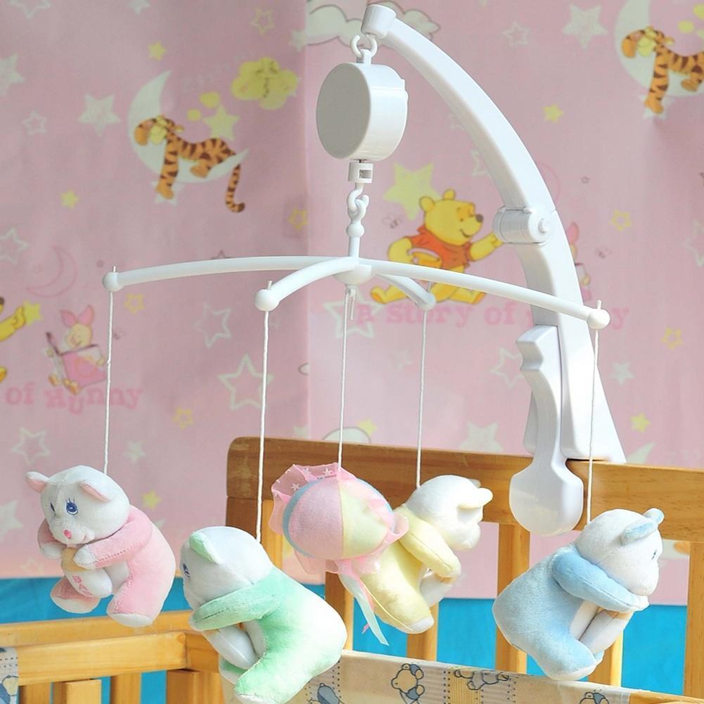 DIY Baby Mobile Crib Pram Bed Bell Kids Toy Windup Movement Music Box Develop !