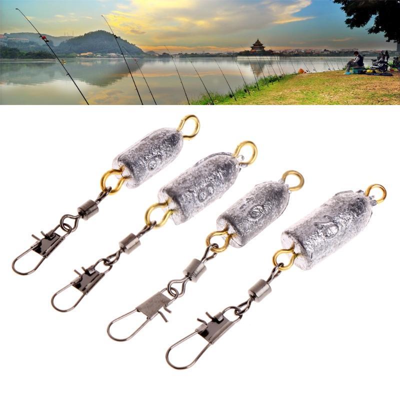 5 Pcs Sinkers Swivel Copper Hammer Falling Weight Lead Float String Fishing Gear