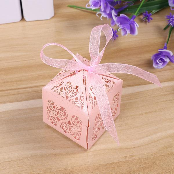 50X Colorful Hollow Out Candy Chocolate Box Wedding Party Favour Gift Paper Bag