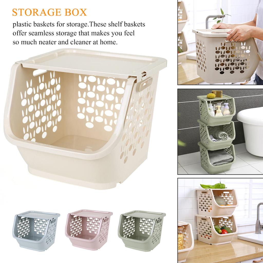 Kitchen Home Plastic Storage Basket Desktop Sundries Snack Storage Box Organizer