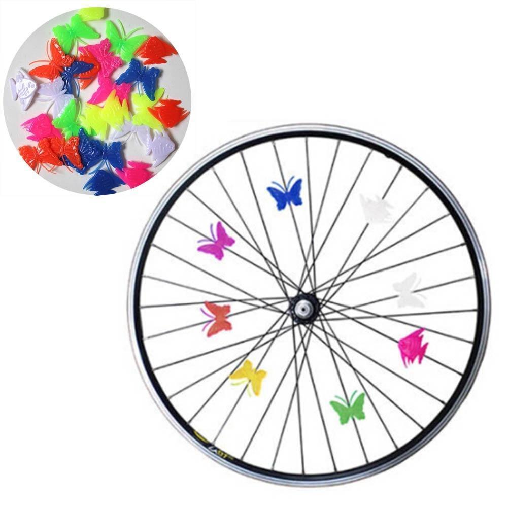 2pcs Cool Bike Cycling Wheel Spoke LED Flash Signal Light Lamp Snap-on 5 COLOR