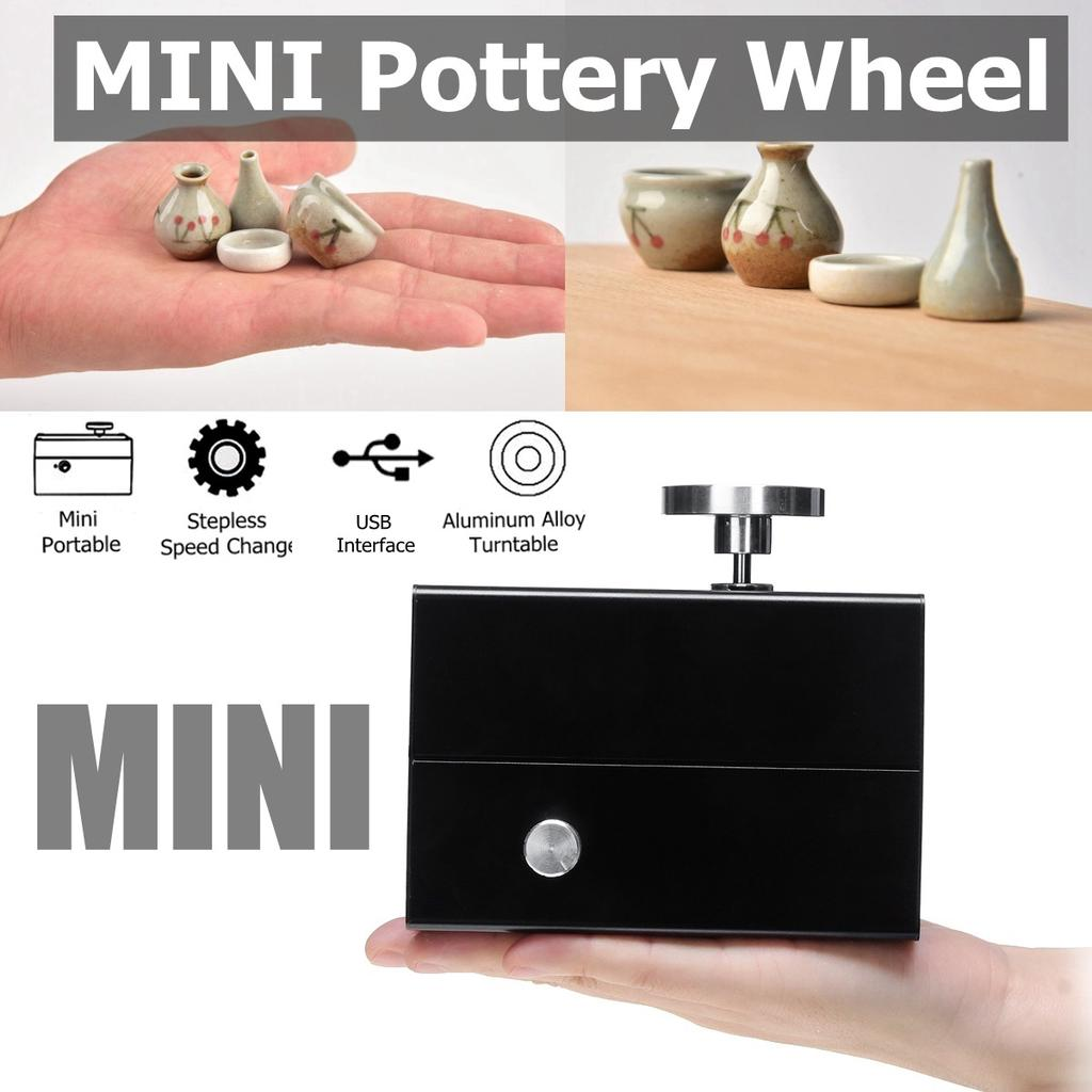 5V USB Mini Electric Pottery Wheel Machine Ceramic Clay Art Craft Work Tool