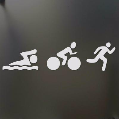 "Sports 20 Ironman Wall Sticker 15/"" x 20/"" Triathla Mom DecalTriathlon"