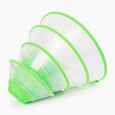 Pc Anti-Bite Pet Protector Cover Safety Dog Cat Green Cone