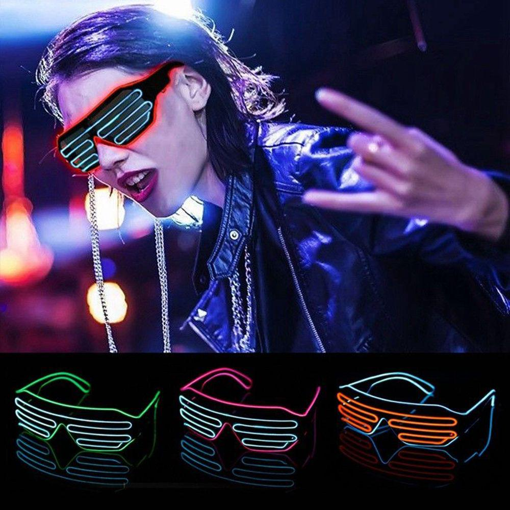 Glasses Large LED Pink Party Flashing Accessory Photo Booth Fancy Dress