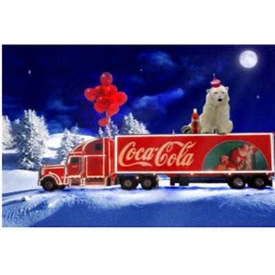 Santa Coke Car 5D DIY Diamond Painting Embroidery Mosaic Full Round Diamond New Year Decoration Gift 40X50 cm Frameless