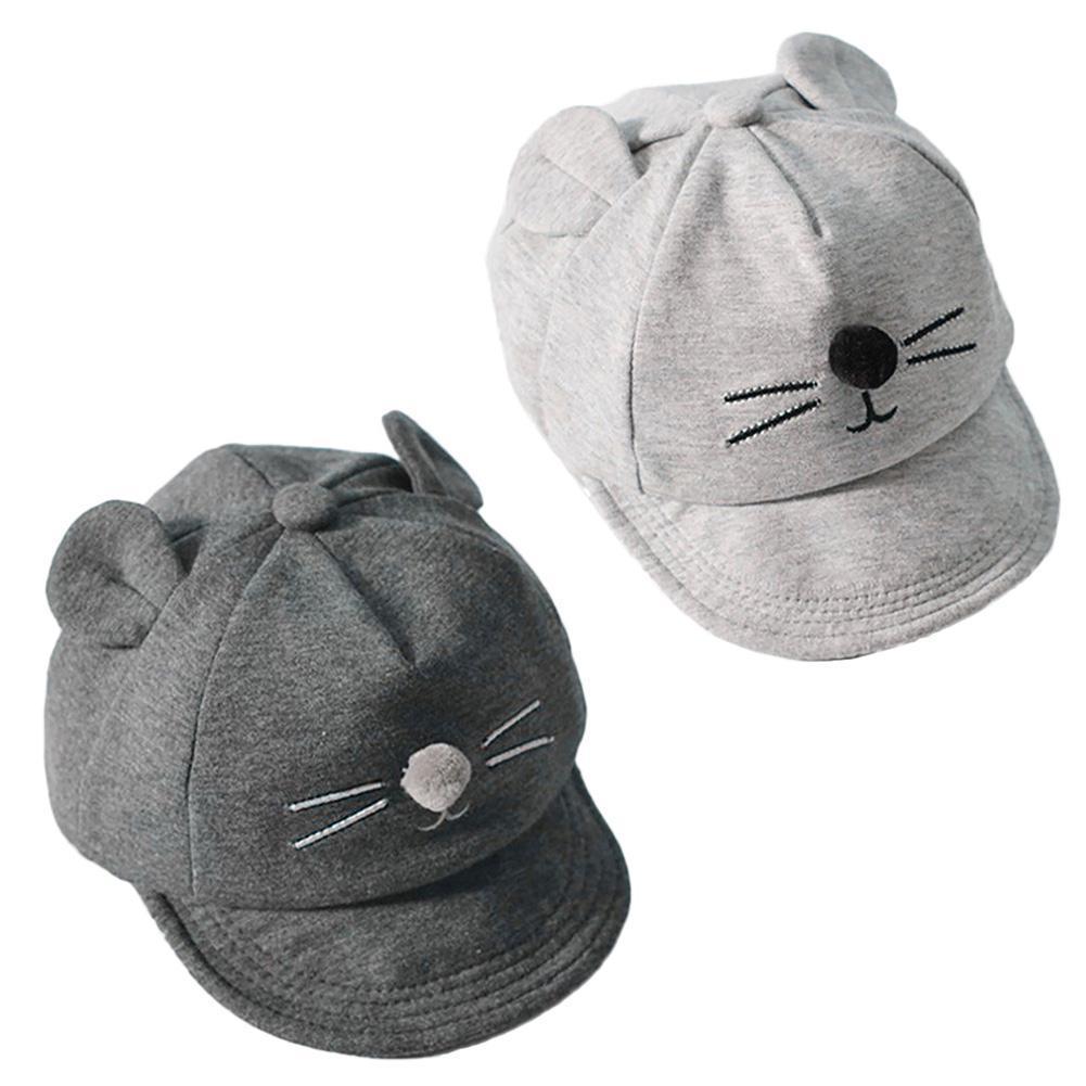 Bebé gato de dibujos animados los niños béisbol sombrero sol algodón ... 24c2967f849