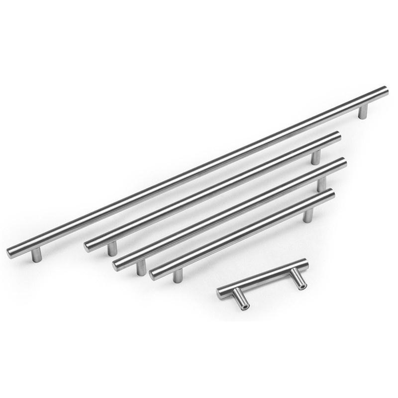 Stainless Steel Kitchen Door Cabinet T Bar Handle Pull Knob C8Z5