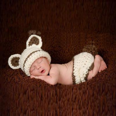 Handarbeit Häkeln Stricken Baby Kinder Kuh Kostüm Set Neugeborenes