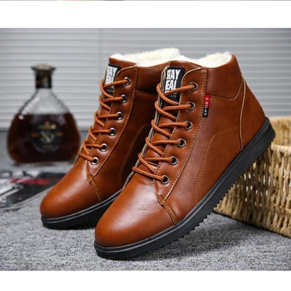 Зимние сапоги в Мартина сапоги Мужские кожаные сапоги Ретро Плюс Бархат хлопок обувь – купить по низким ценам в интернет-магазине Joom