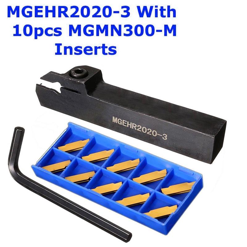 10pc MGMN300 Carbide Inserts MGEHR1616-3 CNC Lathe Turning Holder Cut-Off Tool