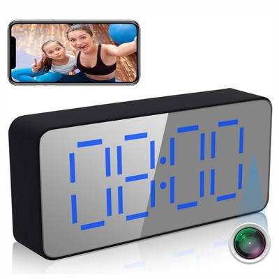 Hidden Camera Clock WiFi Wireless 1080P Camera Indoor Home Security Surveillance Camera With Night Vision, 120 Degree Wide Angel