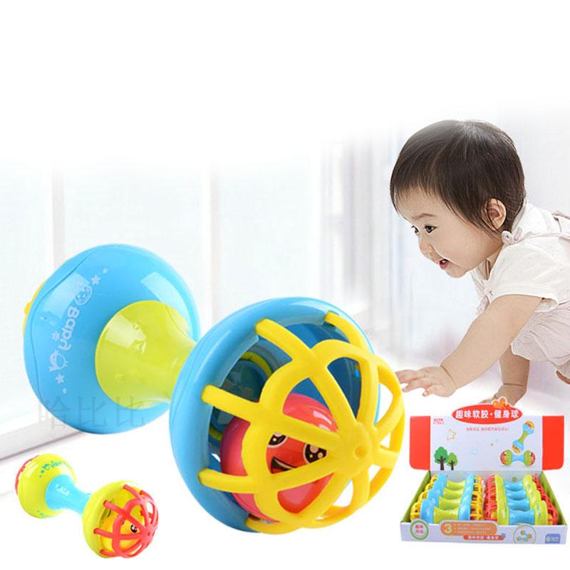 Baby Kid Toy Rattles Bells Shaking Dumbells Early Development Toys 0-12 Months