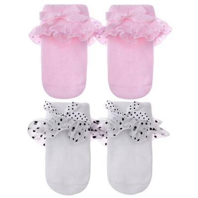 Baby Girl Ankle Socks Infant Bowknot Lace Crew Socks for 0-6M Princess Newborn