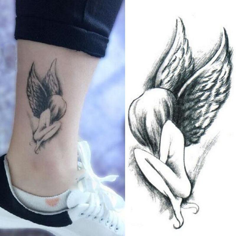 1 Arkusz Urocze Skrzydło Anioła Design Tatuaż Naklejki Wodoodporne Tymczasowe Diy Arm Body Art Kalkomania