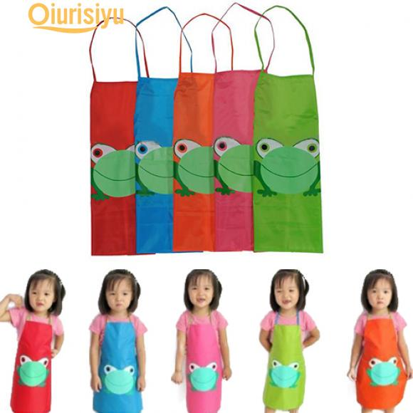 Kids Cartoon Frog Printed Painting Cooking Apron Buy From 3 On Joom E Commerce Platform