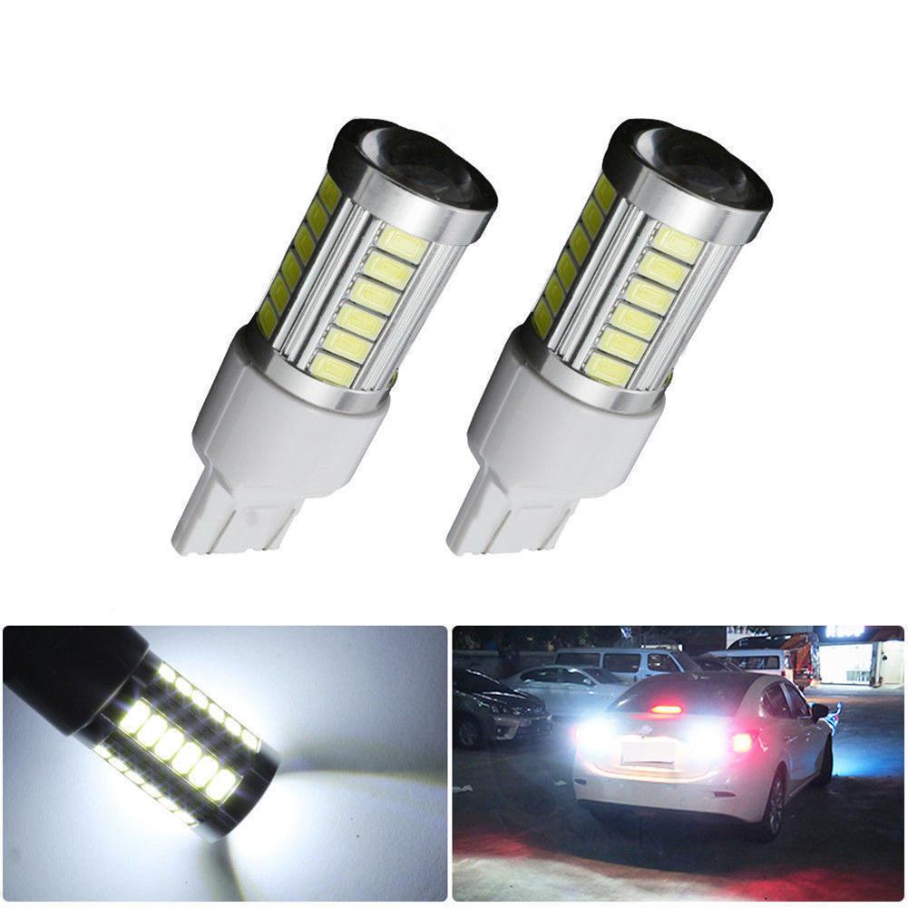 2 Stücke 7443 T20 W215W Rot Lampe 12 2835 SMD Auto LED