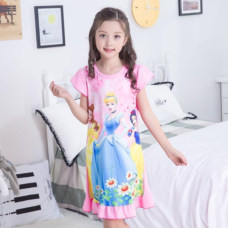 5d1f326c60 Camisones para niñas princesa manga corta algodón verano camisón niños ropa  de dormir niños lindo - comprar a precios bajos en la tienda en línea Joom