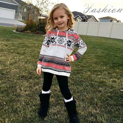 Toddler Kids Baby Girl Stripe Hoodie Sweatshirt Pullover Tops Christmas Clothes