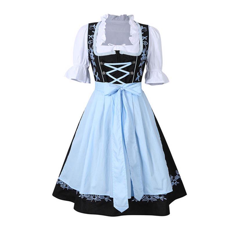 Las señoras vítores siervo halloween traje tradicional alemán rayas ... 5a03f306d20