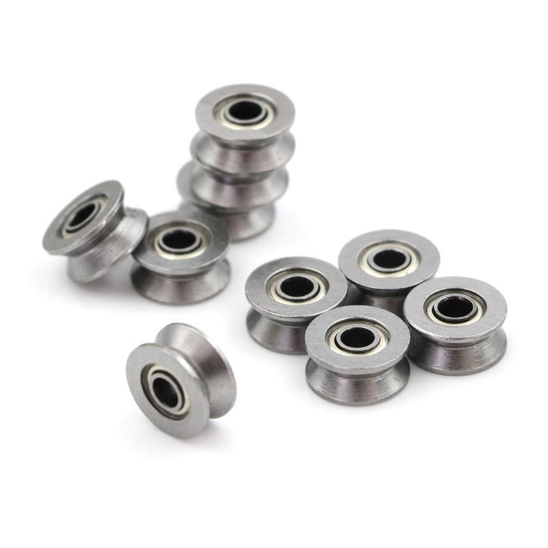 10pcs HCS Deep V Groove Sealed Guide Line Track Pulley Ball Bearing 4*13*6mm TES