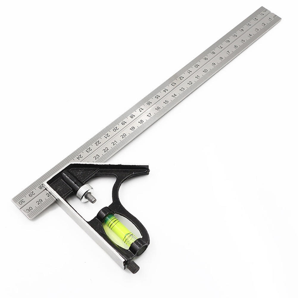 Square Angle Ruler Machinist Measuring Tools 12 inch Combination Protractor Tri