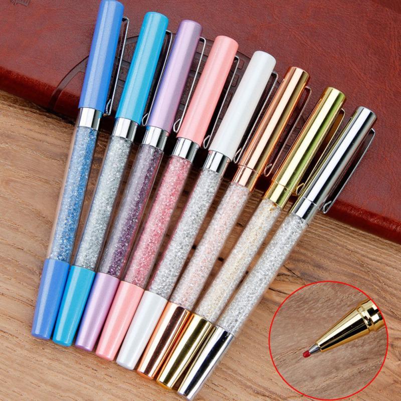 best gift 4 pcs Crystal pen Diamond ballpoint pens Stationery ballpen 2 in 1 crystal stylus pen touch pen for iPhone iPad