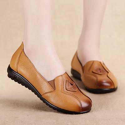 40d112901f194b Buty ze skóry wołowej Kobiety Comfortable Room Mother Casual Flat Shoes