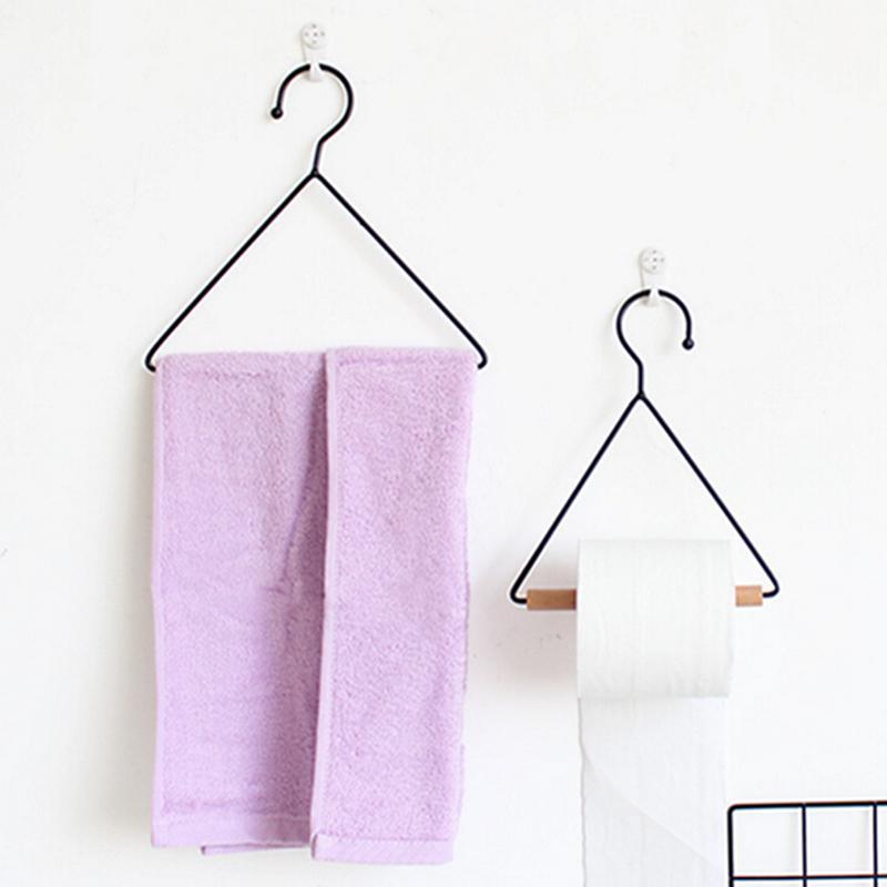 Bathroom Kitchen Metal Triangle Towel Rack Paper Holders Clothes Coat Hangers SH