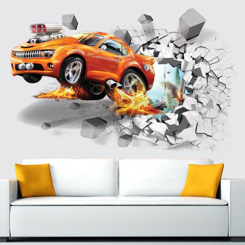 3D Soccer Car Ball Stickers Wall Decals Removable Vinyl Mural Art DIY Home Decor