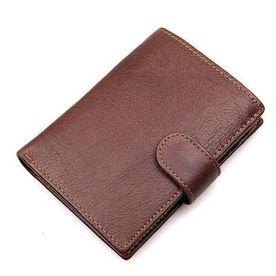 Genuine Leather Men Small Thin Bifold Wallet Cowhide Slim Casual Short Purse