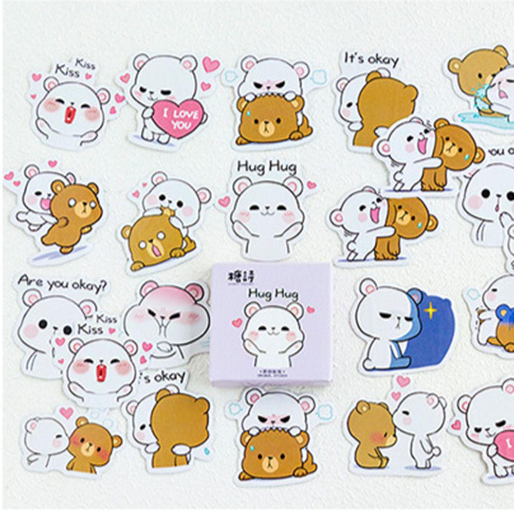 Kawaii Cartoon Girl and Pets Label Paper Sticker Decorate Loose Spiral Notebook