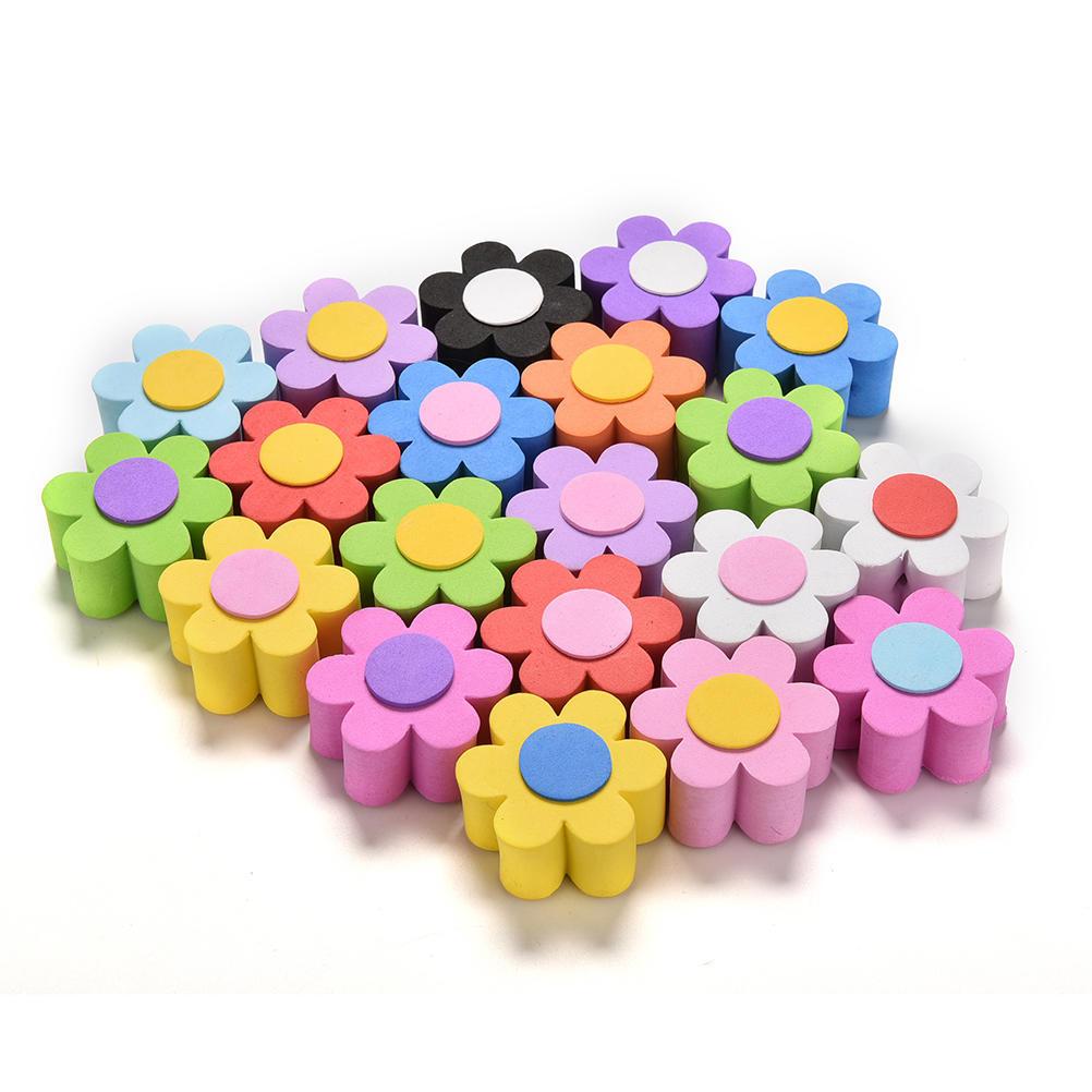 1 Pcs Lovely Eva Flower Decorative Car Antenna Topper  Balls Color Random XS