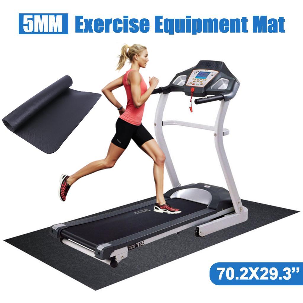 Anti-slip Thick Equipment Mat Gym Fitness Treadmill Exercise Bike Protect Floor