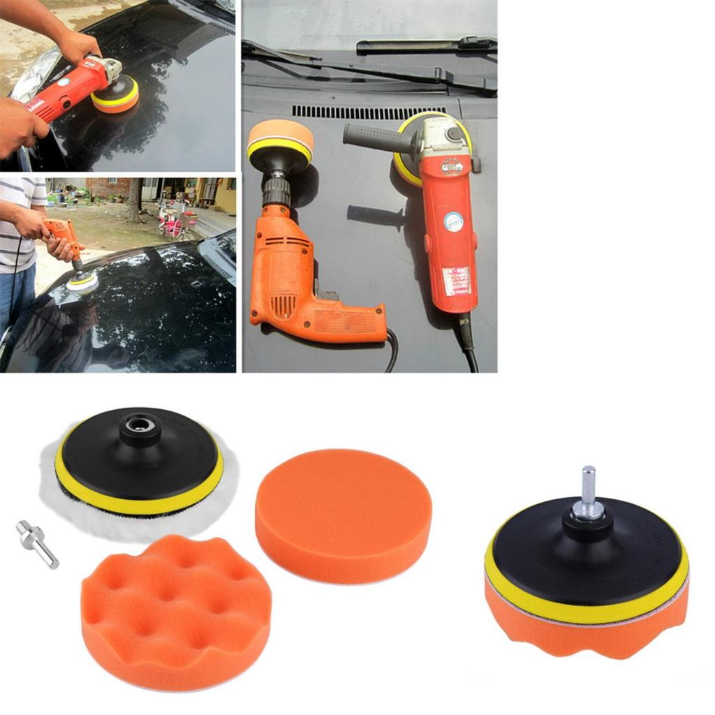 "7Pcs//set 3/"" Buffing Pad Auto Car Polishing Wheel Kit Buffer Drill Adapter LY"