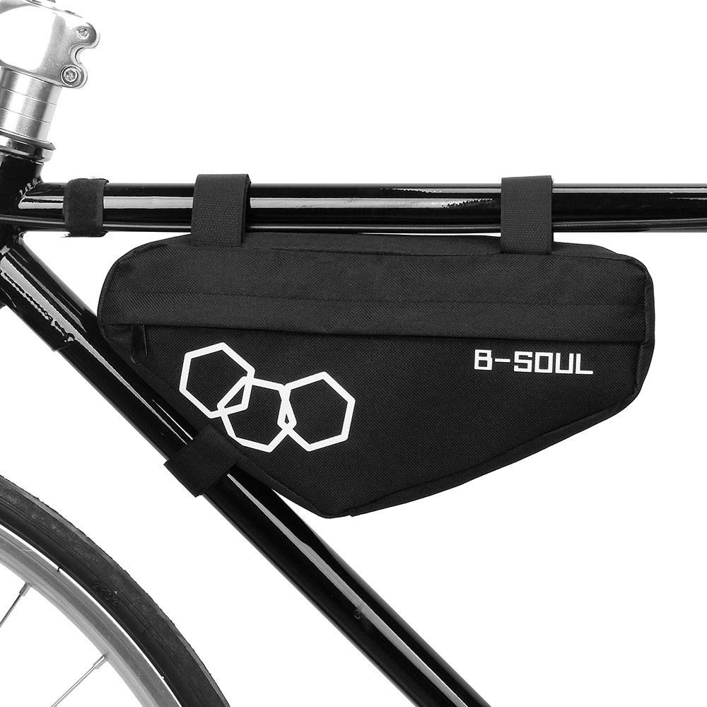 B-Soul Portable Size MTB Bike Bicycle Bags Waterproof Cycling Top Front Tube Frame Bags Triangle Bag Cycling Accessories