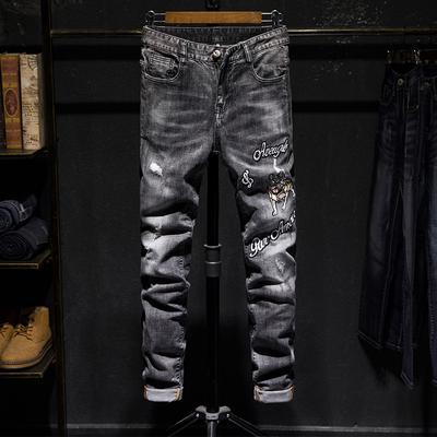 outlet online vânzare profesională pantofi de separare Men's Franţa motociclist Moto blugi Slim Fit drepte Denim ...