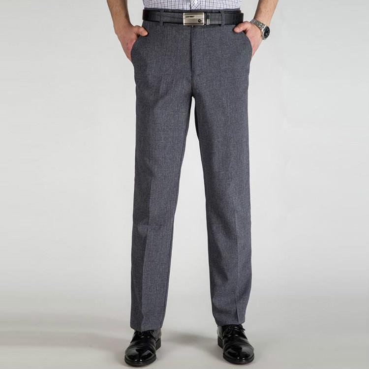 058143bae760c Orta yaşlı erkekler takım elbise pantolon iş tarzında ince gevşek yüksek  bel pantolon bölüm – online alışveriş sitesi Joom'da ucuza alışveriş yapın