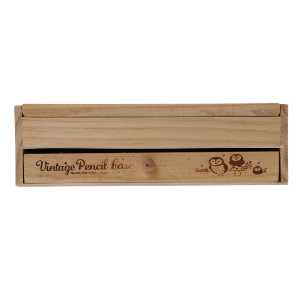 Holz Federmäppchen Füllfederhalter Box Container Handwerk Geschenk für