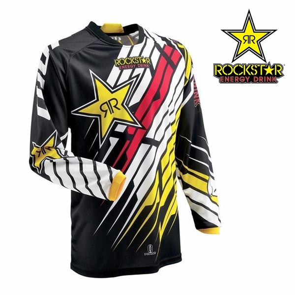 bb7a688c8 Rockstar Energy Drink Logo Long Sleeve Jersey Quick Dry Wicking ...