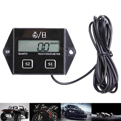 """Waterproof Hour Meter Counter 2/"""" for Boat Car Auto Motor Engine Black"""