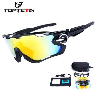 e83bc74ec Polarized 5 Lens Cycling Eyewear Glasses Bicycle Sun MTB Sunglasses  Mountain Bike Goggles Gafas
