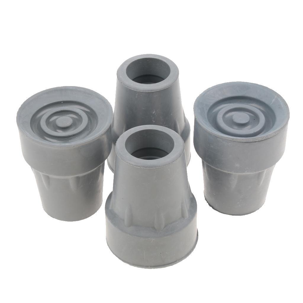 4x Walking Stick Cane Pole Pin Crutch Rubber Cap Tip Ferrule End Bottom 19mm