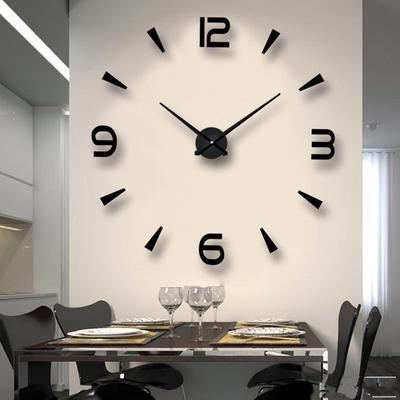 Wall Clock Modern Acrylic Mirror Walls Are Decorated With Diy Clocks For Living Room And Bedroom