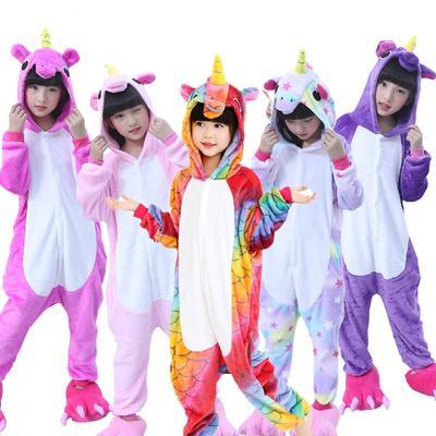 Toddler Kids Boys Girls Pajamas Romper Kigurumi Winter Jumpsuit Nightwear Robe