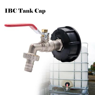 IBC Water Tank Outlet Fitting// Connector// Adapter Brass with Range of Tap Valve
