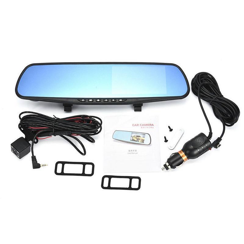 """Келима 4.3"""" TFT Двойной Лен HD Автомобиль внедорожник DVR Видео Dash камера 1080P водонепроницаемый G-сенсор тахограф Cam – купить по низким ценам в интернет-магазине Joom"""