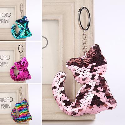 Bag Accessories Pig Key Ring Handbag Pendant Holder Glitter Sequins Keychain