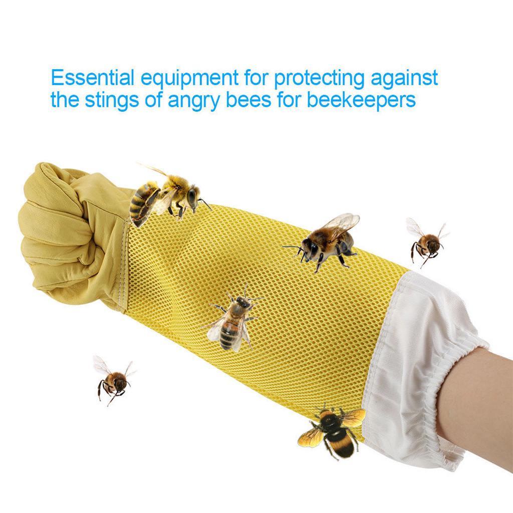 New Beekeeper Beekeeping Bee Keeping Gloves Goatskin with Vented Long Sleeves XS