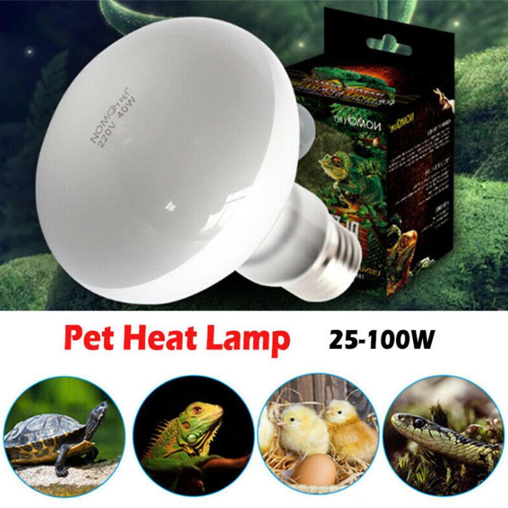 UVA Basking Spot Heat Lamp Reptile Turtle Heating Bulb Habitat Light 25-100W